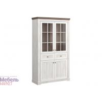 Шкаф витрина 2-х створчатый комбинир. (440) Ривьера