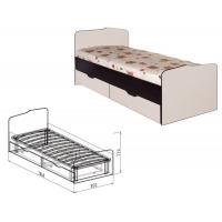 Кровать 800 с ящиками №23 Статус (вудлайн)