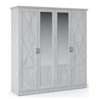 Распашной шкаф 4дв Лорена (Бетон пайн)
