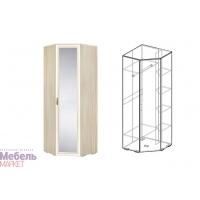 Шкаф угловой с зеркалом (440) Виктория