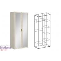 Шкаф 2х-ств. комбинированный с зеркалом (440) Виктория
