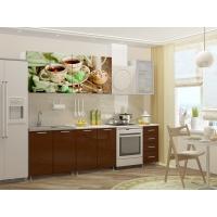 Кухонный гарнитур Черный чай МДФ 2,0