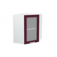 Шкаф верхний угловой со стеклом ШВУС 550 Н700 Лира