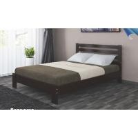 Кровать из массива Вероника, 140 см (орех темный)
