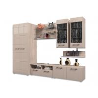 Гостиная Ненси-3 со шкафом (ясень/какао глянец)