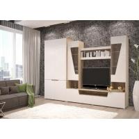 Гостиная Анталия-2 со шкафом (сонома/белый Софт)