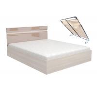 Кровать Ненси 1,6 с подъемным механизмом (ясень/какао глянец)