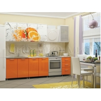 Кухонный гарнитур Апельсин МДФ 2,0