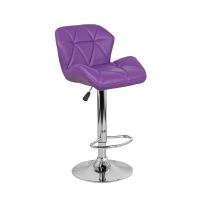 Барный стул Алмаз WX-2582 экокожа, фиолетовый