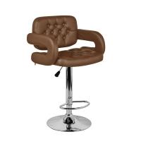 Барный стул Тиесто WX-2927 экокожа, коричневый