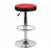 Барный стул Орбита WX-2008, экокожа красный/черный
