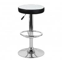 Барный стул Орбита WX-2008, экокожа белый/черный