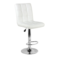 Барный стул Крюгер WX-2516 экокожа, белый