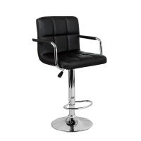 Барный стул Крюгер АРМ WX-2318C экокожа, черный