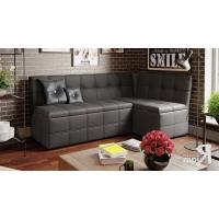 Кухонный диван угловой Домино (Кашемир коричневый)