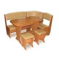Кухонный уголок Весна с раскладным столом, ольха (кожзам)