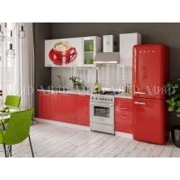 Кухонный гарнитур Чашка 3D 2,0 (белый/красный)