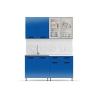 Кухня Рио-1 Синий 1,6 ЛДСП
