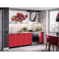 Кухонный гарнитур Рио-1 Вишня 2.0 (ЛДСП)