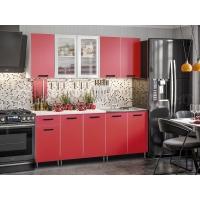 Кухня Рио-1 Красный 2,0 ЛДСП