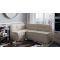 Кухонный диван угловой Майами (Дуб Сонома трюфель/Рогожка Бежевая)