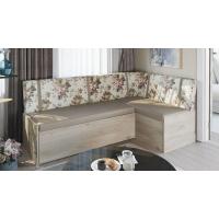 Кухонный диван Париж (Баттл Рок/ Цветы бежевые)