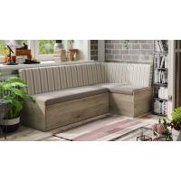 Кухонный диван Париж (Баттл Рок/ Полоса бежевая)