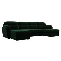 П-образный диван Бостон зеленый велюр