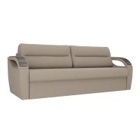 Прямой диван Форсайт бежевый рогожка