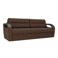 Прямой диван Форсайт коричневый рогожка