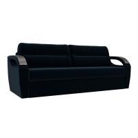 Прямой диван Форсайт синий велюр