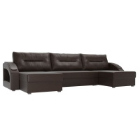 П-образный диван Канзас коричневый экокожа