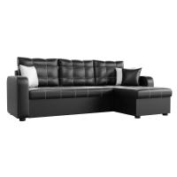 Угловой диван Ливерпуль (эко кожа черный)