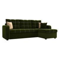 Угловой диван Ливерпуль (вельвет зеленый)