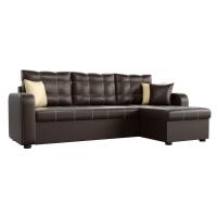 Угловой диван Ливерпуль (эко кожа коричневый)