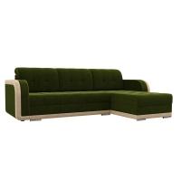 Угловой диван Марсель (зеленый/бежевый) велюр