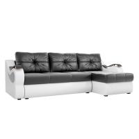 Угловой диван Меркурий (черный\белый) экокожа