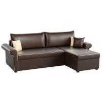 Угловой диван Милфорд (эко кожа коричневый)
