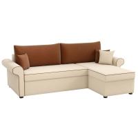 Угловой диван Милфорд (рогожка бежево-коричневый)