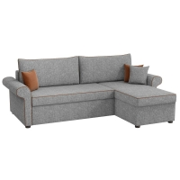 Угловой диван Милфорд (рогожка серый)