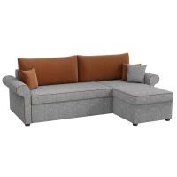Угловой диван Милфорд (рогожка серо-коричневый)