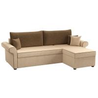 Угловой диван Милфорд (вельвет бежево-коричневый)