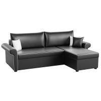 Угловой диван Милфорд (эко кожа черный)