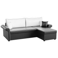 Угловой диван Милфорд (эко кожа черно-белый)