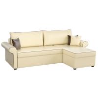 Угловой диван Милфорд (эко кожа бежевый)