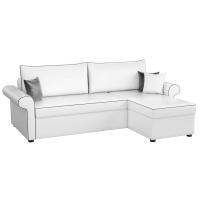 Угловой диван Милфорд (эко кожа белый)