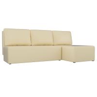 Угловой диван Поло (экокожа бежевый)