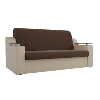 Прямой диван Сенатор (коричневый\бежевый) рогожка