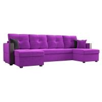 Диван Валенсия П (вельвет фиолетовый)