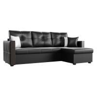 Угловой диван Валенсия (эко кожа черный)